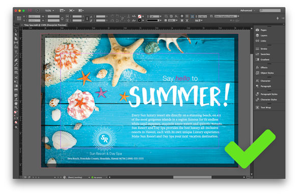 screenshot of adjusting the summer graphic